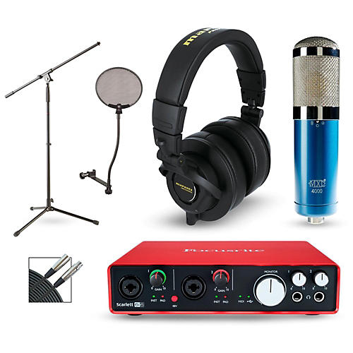 Focusrite Scarlett 6i6 Recording Package with MXL 4000 and Marantz MPH-2-thumbnail