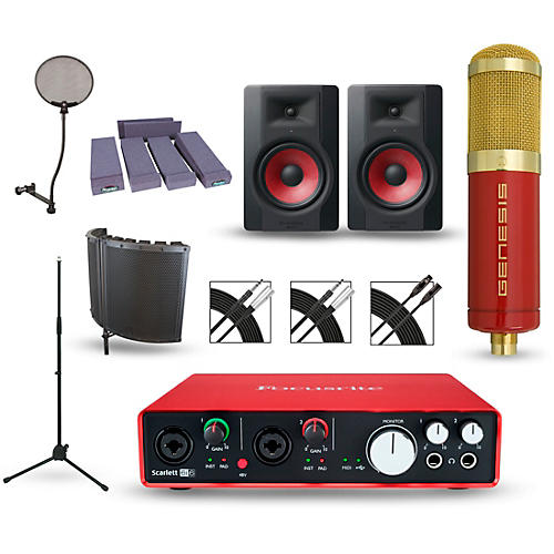 Focusrite Scarlett 6i6 Recording Package with MXL Genesis and M-Audio Limited Edition BX8 Pair-thumbnail