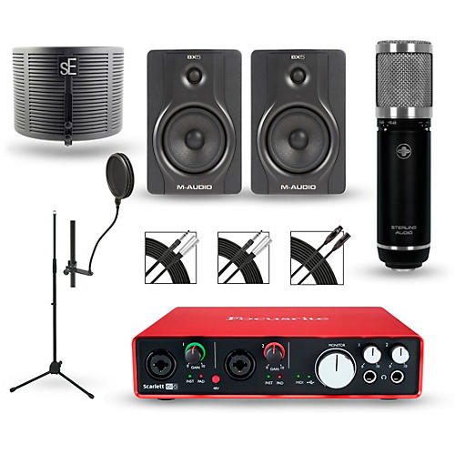 Focusrite Scarlett 6i6 Recording Package with Sterling ST59 and M-Audio BX5 Pair-thumbnail