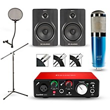 Focusrite Scarlett Solo Recording Package with MXL 4000 and M-Audio BX5 Pair