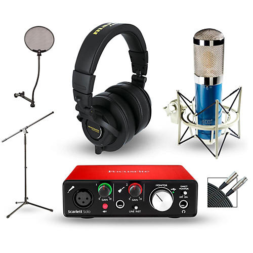 Focusrite Scarlett Solo Recording Package with MXL 4000 and Marantz MPH-2
