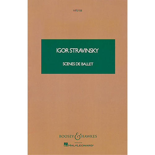 Boosey and Hawkes Scenes de Ballet (Study Score) Boosey & Hawkes Scores/Books Series Composed by Igor Stravinsky-thumbnail