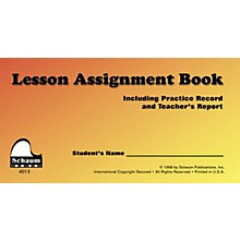SCHAUM Schaum Lesson Assignment Book Educational Piano Series Softcover Written by John Schaum