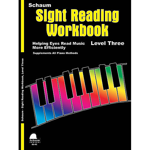 SCHAUM Schaum Sight Reading Workbook (Level 3) Educational Piano Book