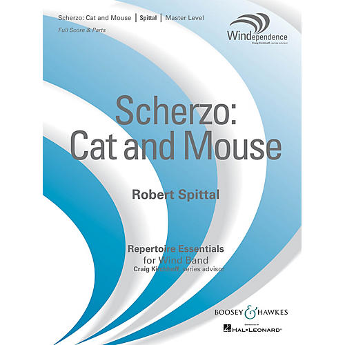 Boosey and Hawkes Scherzo: Cat and Mouse (Score Only) Concert Band Level 4 Composed by Robert Spittal-thumbnail