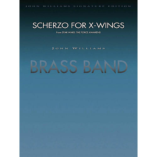 Hal Leonard Scherzo For X-wings (from Star Wars: The Force Awakens) - (brass Band) Full Score Concert Band-thumbnail