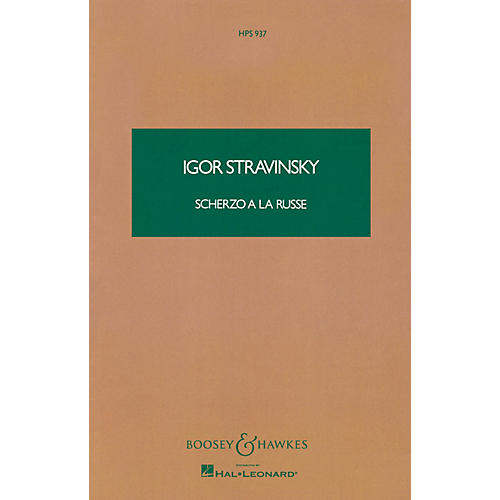 Boosey and Hawkes Scherzo a la Russe (Study Score) Boosey & Hawkes Scores/Books Series Composed by Igor Stravinsky-thumbnail