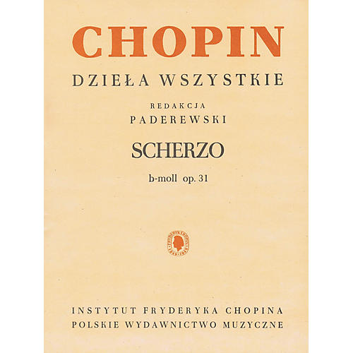 PWM Scherzo in B Flat Minor for Piano PWM Softcover by Frederic Chopin Edited by Ignacy Jan Paderewski