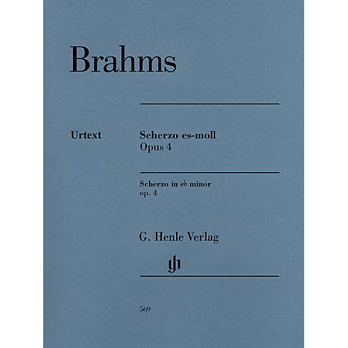 G. Henle Verlag Scherzo in E-Flat minor, Op. 4 Henle Music Softcover Composed by Brahms Edited by Katrin Eich-thumbnail