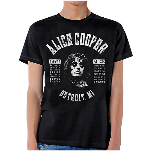 Alice Cooper School's Out Lyrics T-Shirt XX Large