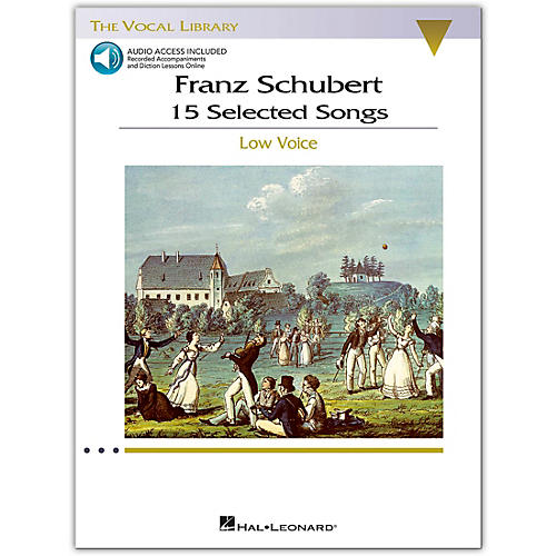 Hal Leonard Schubert - 15 Selected Songs for Low Voice (The Vocal Library) Book / 2 CD's