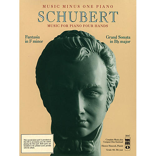 Music Minus One Schubert - Fantasia in F Minor and Grand Sonata in Bb Major Music Minus One BK/CD by Franz Schubert-thumbnail
