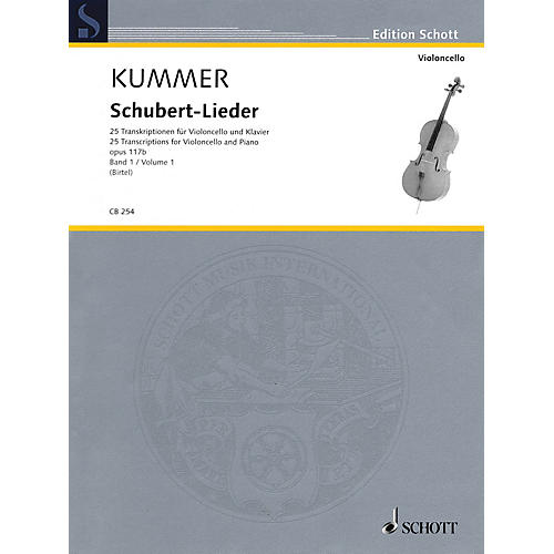 Schott Schubert-Lieder Op. 117b (25 Transcriptions for Cello and Piano - Volume 1) String Series Softcover-thumbnail