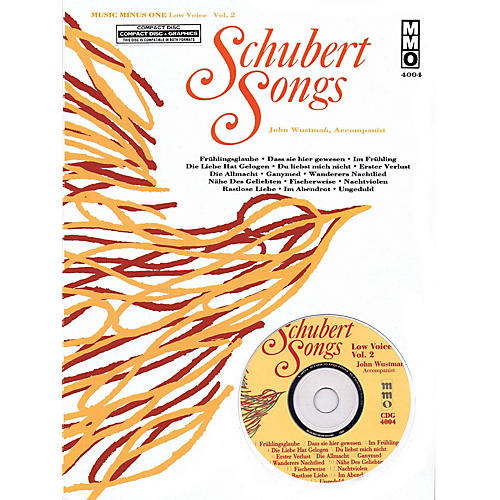 Music Minus One Schubert Songs (Low Voice Vol. 2) Music Minus One Series Softcover with CD  by Franz Schubert-thumbnail