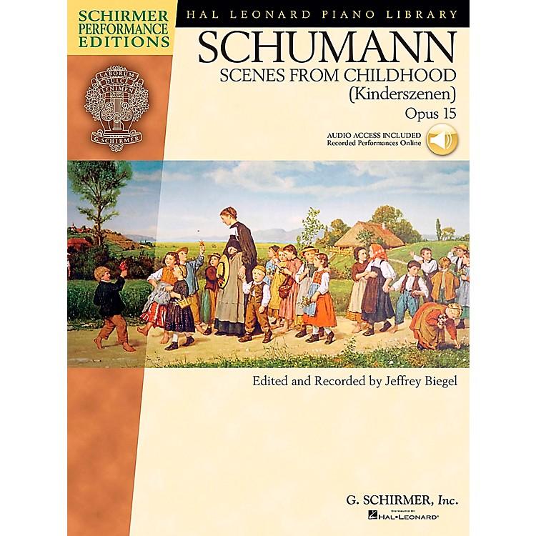 G. SchirmerSchumann: Scenes From Childhood Kinderscenen Op 15 Book/CD Schirmer Performance Edition By Schumann / Biegel