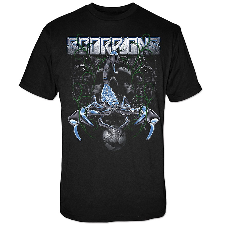 FEA Merchandising Scorpions -  Metallic Scorpion Chrome Sting T-Shirt