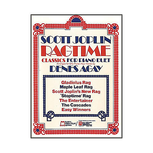 Hal Leonard Scott Joplin's Ragtime Classics for Piano Duet or One Piano Four Hands-thumbnail