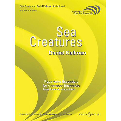 Boosey and Hawkes Sea Creatures (for Wind Octet - Score Only) Concert Band Level 5 Composed by Daniel Kallman-thumbnail