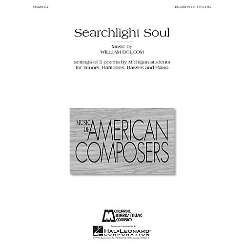 Edward B. Marks Music Company Searchlight Soul (Settings of 5 poems by Michigan Students) TBB Composed by William Bolcom