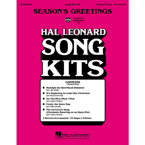 Hal Leonard Season's Greetings (Song Kit #38) ShowTrax CD Arranged by Various Arrangers
