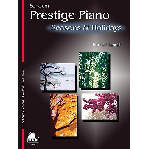 SCHAUM Seasons & Holidays (Primer Level Early Elem Level) Educational Piano Book-thumbnail