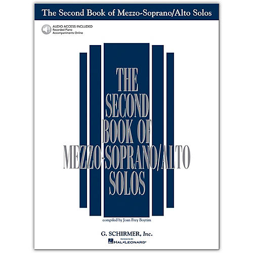 G. Schirmer Second Book Of Mezzo-Soprano / Alto Solos Book/CD Pkg