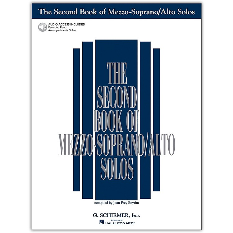 G. Schirmer Second Book Of Mezzo-Soprano / Alto Solos Book/CD Pkg