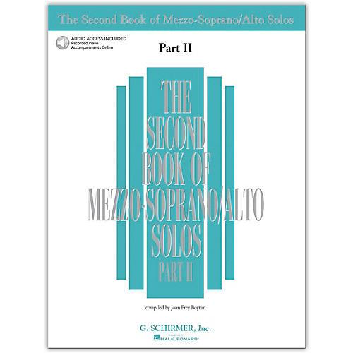 Hal Leonard Second Book Of Mezzo-Soprano / Alto Solos Part 2 Book/2CD's