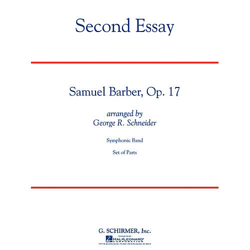 G. Schirmer Second Essay Concert Band Level 5 Composed by Samuel Barber-thumbnail
