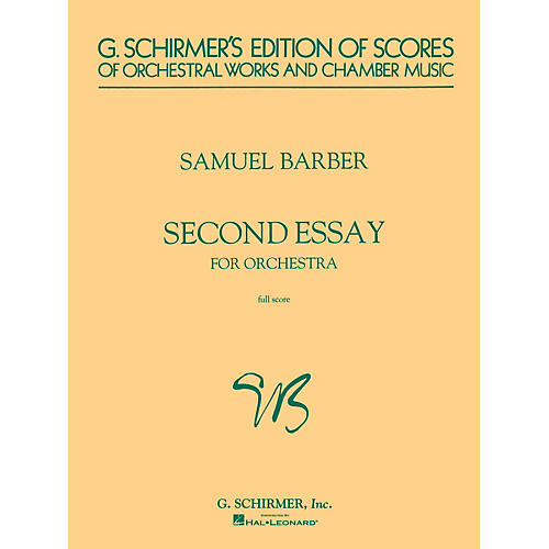 samuel barber second essay Works by samuel barber vladimir golschmann conducting the symphony of the air and the robert decormier chorale pieces include second essay for orchestra, op.