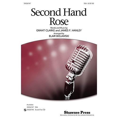 Shawnee Press Second Hand Rose SSA arranged by Blair Bielawski