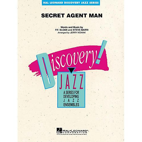 Hal Leonard Secret Agent Man Jazz Band Level 1-2 Arranged by Jerry Nowak-thumbnail