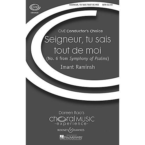 Hal Leonard Seigneur, Tu Sais Tout de Moi SATB
