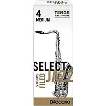D'Addario Woodwinds Select Jazz Filed Tenor Saxophone Reeds Strength 4 Medium Box of 5