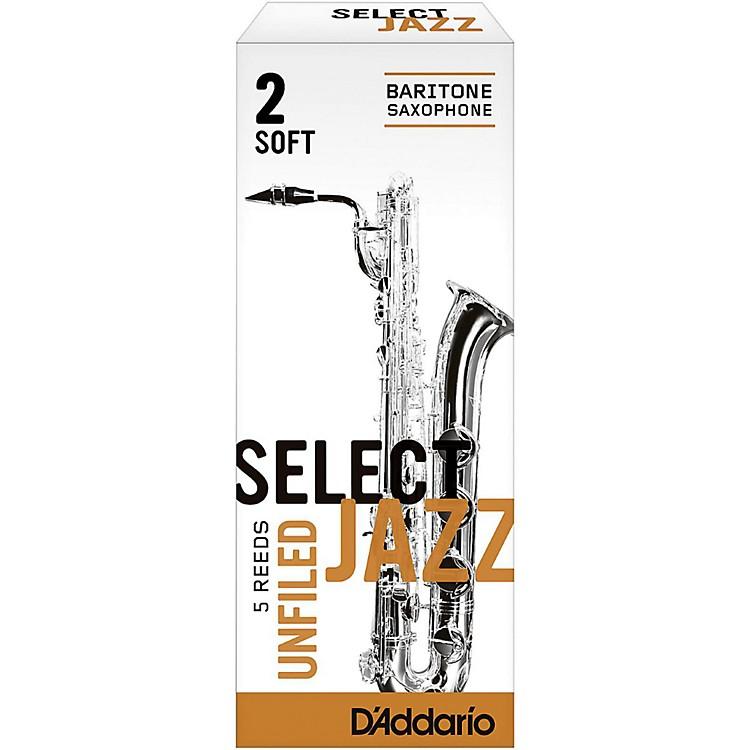 RicoSelect Jazz Unfiled Baritone Saxophone ReedsStrength 3 MediumBox of 5