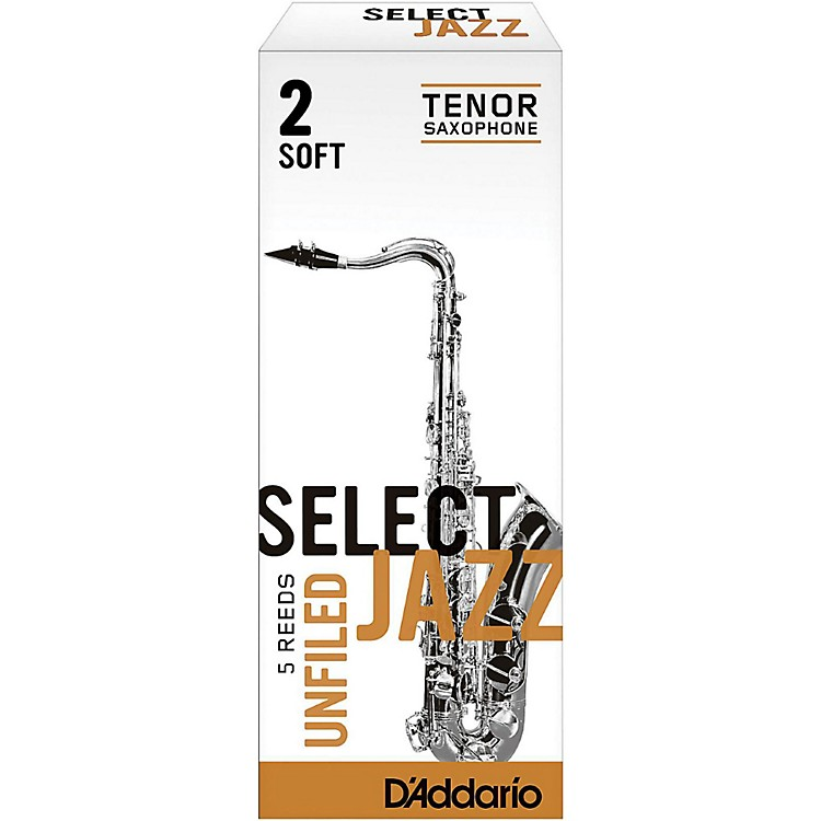 RicoSelect Jazz Unfiled Tenor Saxophone ReedsStrength 3 MediumBox of 5