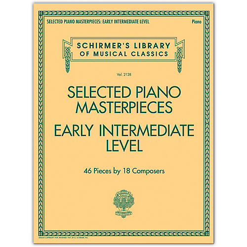 G. Schirmer Selected Piano Masterpieces - Early Intermediate Level Piano Collection Series Softcover