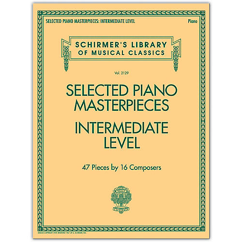 G. Schirmer Selected Piano Masterpieces - Intermediate Level Piano Collection Series Softcover-thumbnail