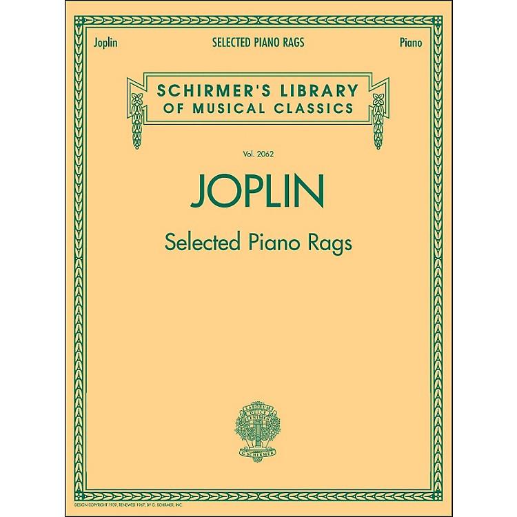 G. SchirmerSelected Piano Rags By Joplin