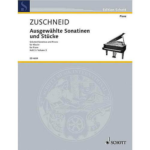 Schott Selected Sonatinas Vol. 3 Schott Series