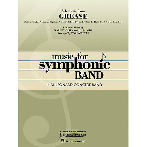 Hal Leonard Selections from Grease Concert Band Level 4 Arranged by Ted Ricketts-thumbnail