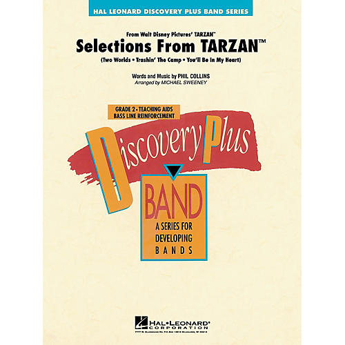 Hal Leonard Selections from Tarzan - Discovery Plus Concert Band Series Level 2 arranged by Michael Sweeney-thumbnail