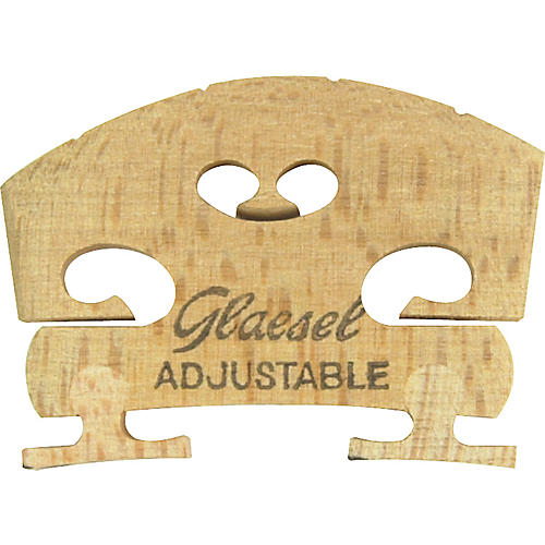 Glaesel Self-Adjusting 1/2 Violin Bridge  Low