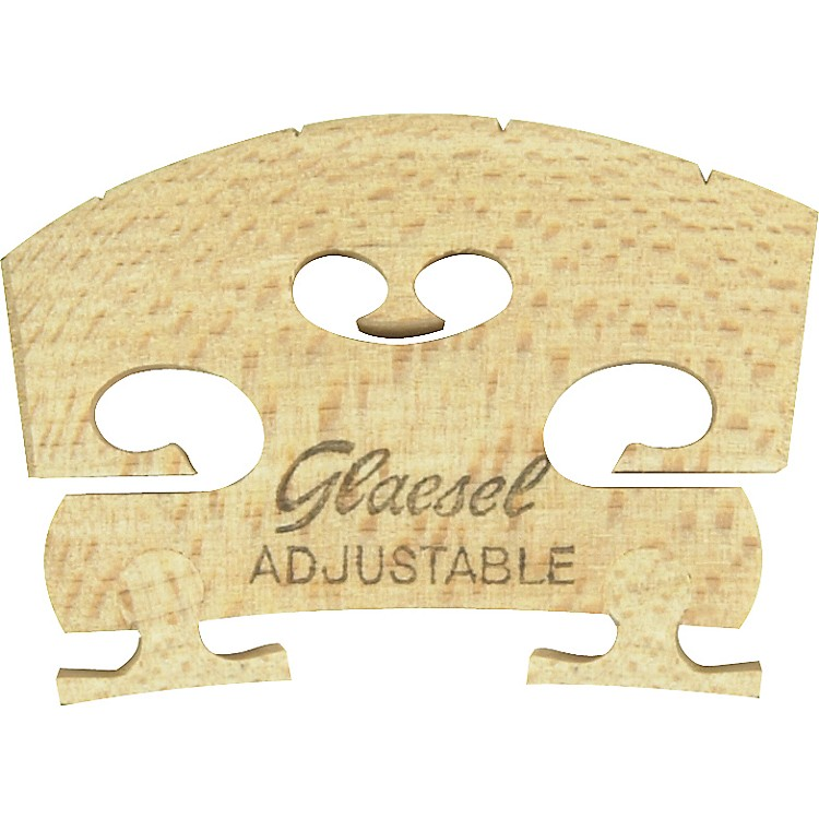 Glaesel Self-Adjusting 4/4 Violin Bridge  Low
