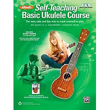 Alfred Self-Teaching Basic Ukulele Course Book, CD & DVD