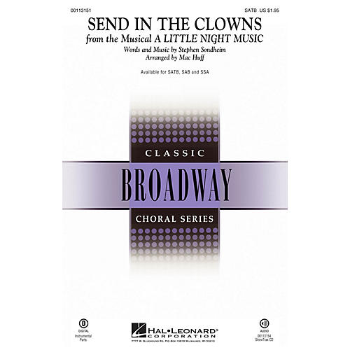 Hal Leonard Send in the Clowns (from A Little Night Music) SATB arranged by Mac Huff