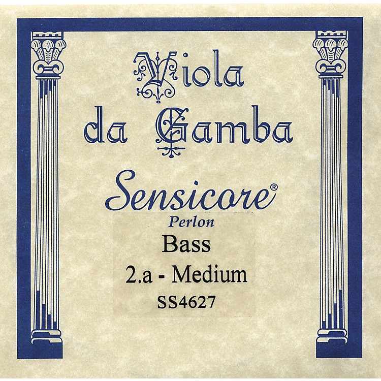 Super Sensitive Sensicore Bass Viola de Gamba Strings A2, Alum/Synthetic