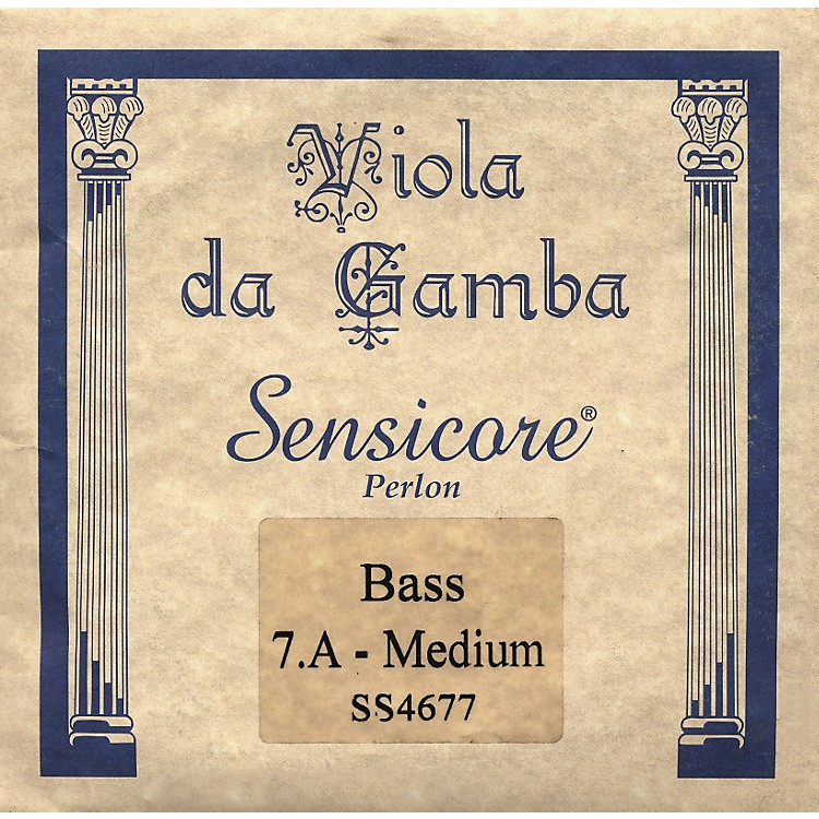 Super SensitiveSensicore Bass Viola de Gamba StringsA7, Steel/Synthetic