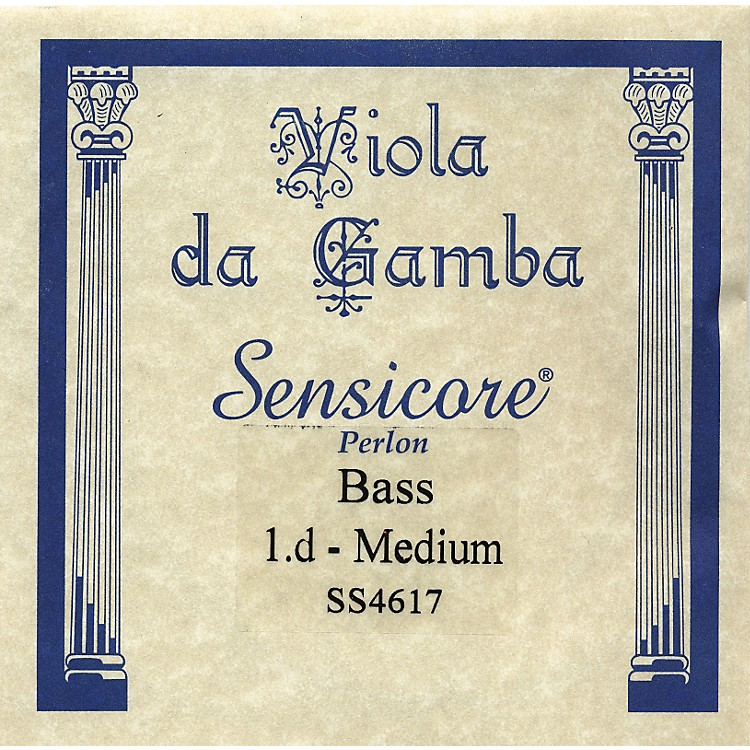 Super SensitiveSensicore Bass Viola de Gamba StringsD1 Alum/Synthetic