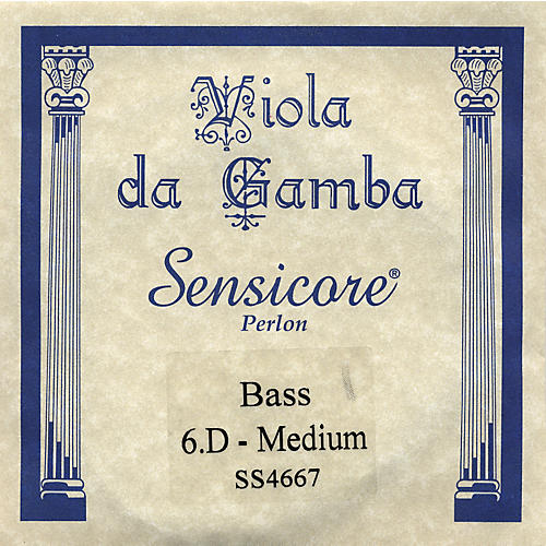 Super Sensitive Sensicore Bass Viola de Gamba Strings D6, Steel/Synthetic